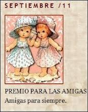 PREMIO DE LUCY PARA EL MES DE SEPTIEMBRE