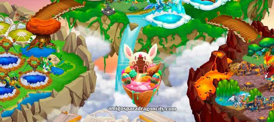 imagen de la isla de pascua de dragon city