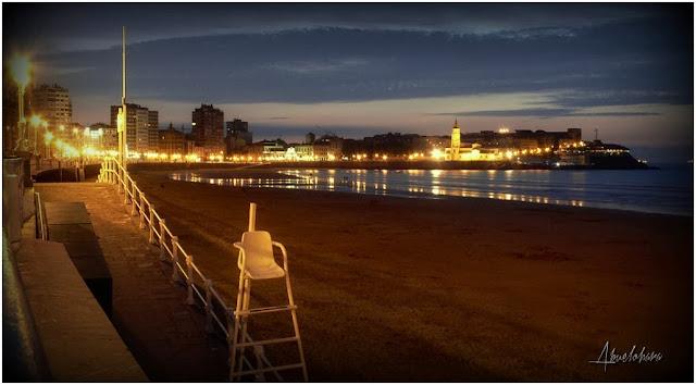 Luces en Gijón. Abuelohara