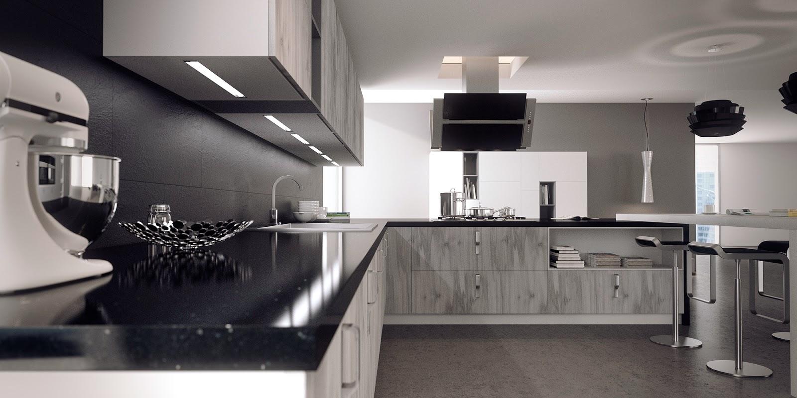 Jose vicente sanz march ambiente cocina con muebles en for Programas para disenar cocinas en 3d