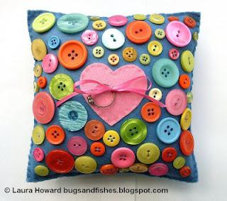 Reciclatex Cómo hacer un cojín con botones
