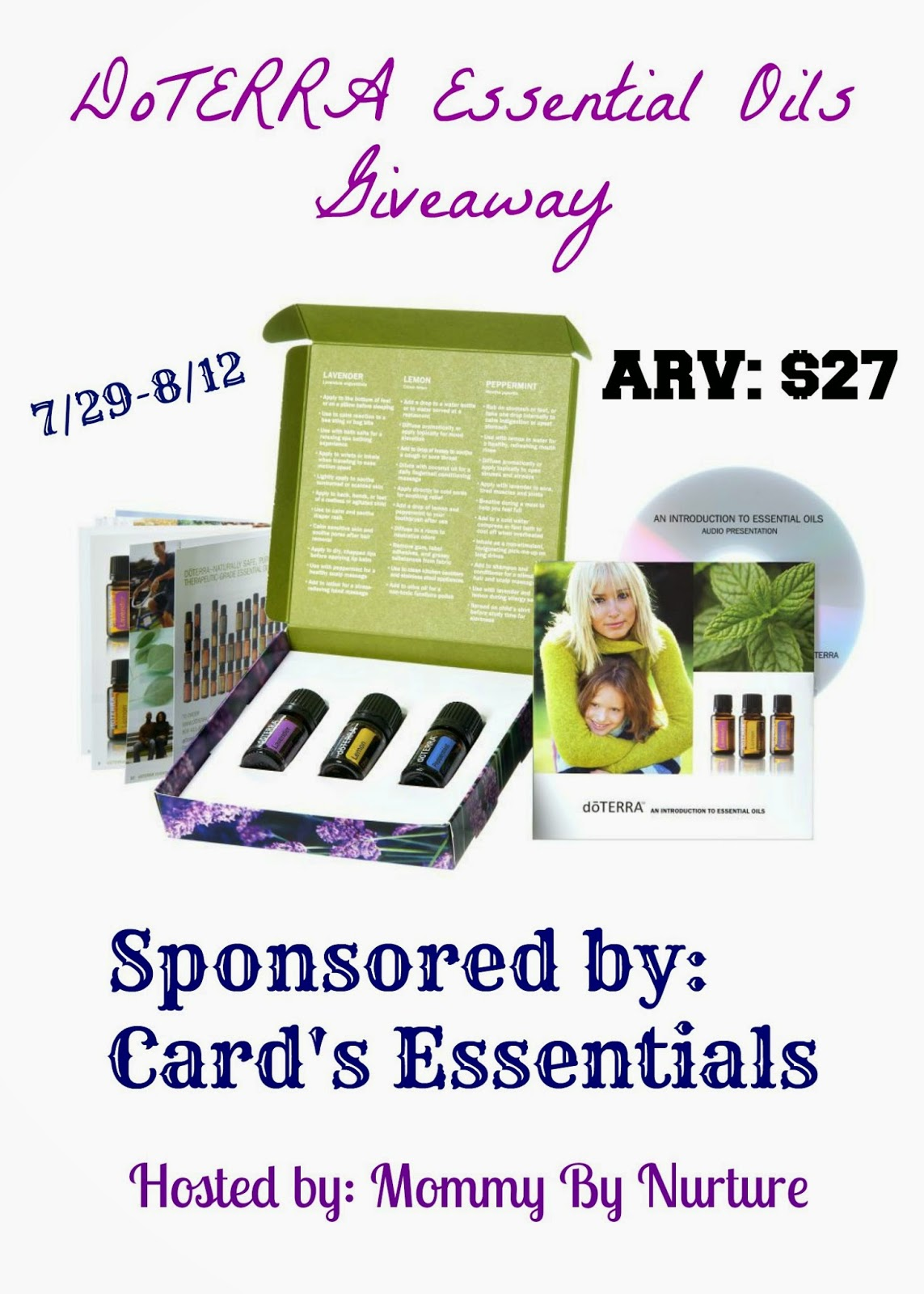 DoTERRA Essential Oils Giveaway