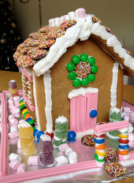 Our Gingerbread House - We Are Scout on butterfly roof designs, church roof designs, gingerbread house chimneys, gingerbread house masonry, garden roof designs, birdhouse roof designs, snow roof designs, gingerbread house details, gingerbread house roofing,
