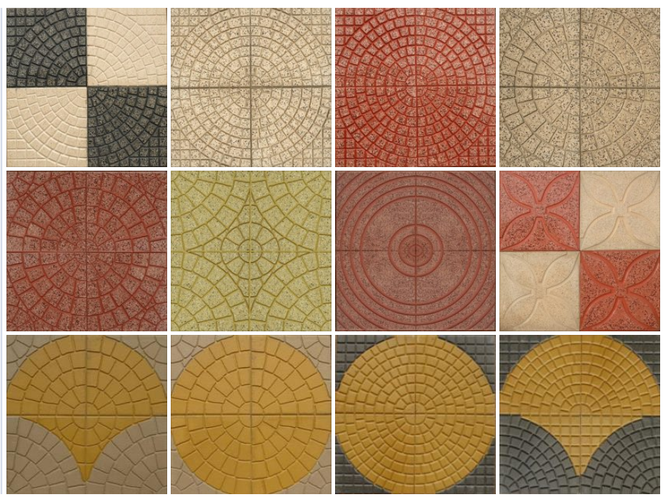 Floor tiling patterns