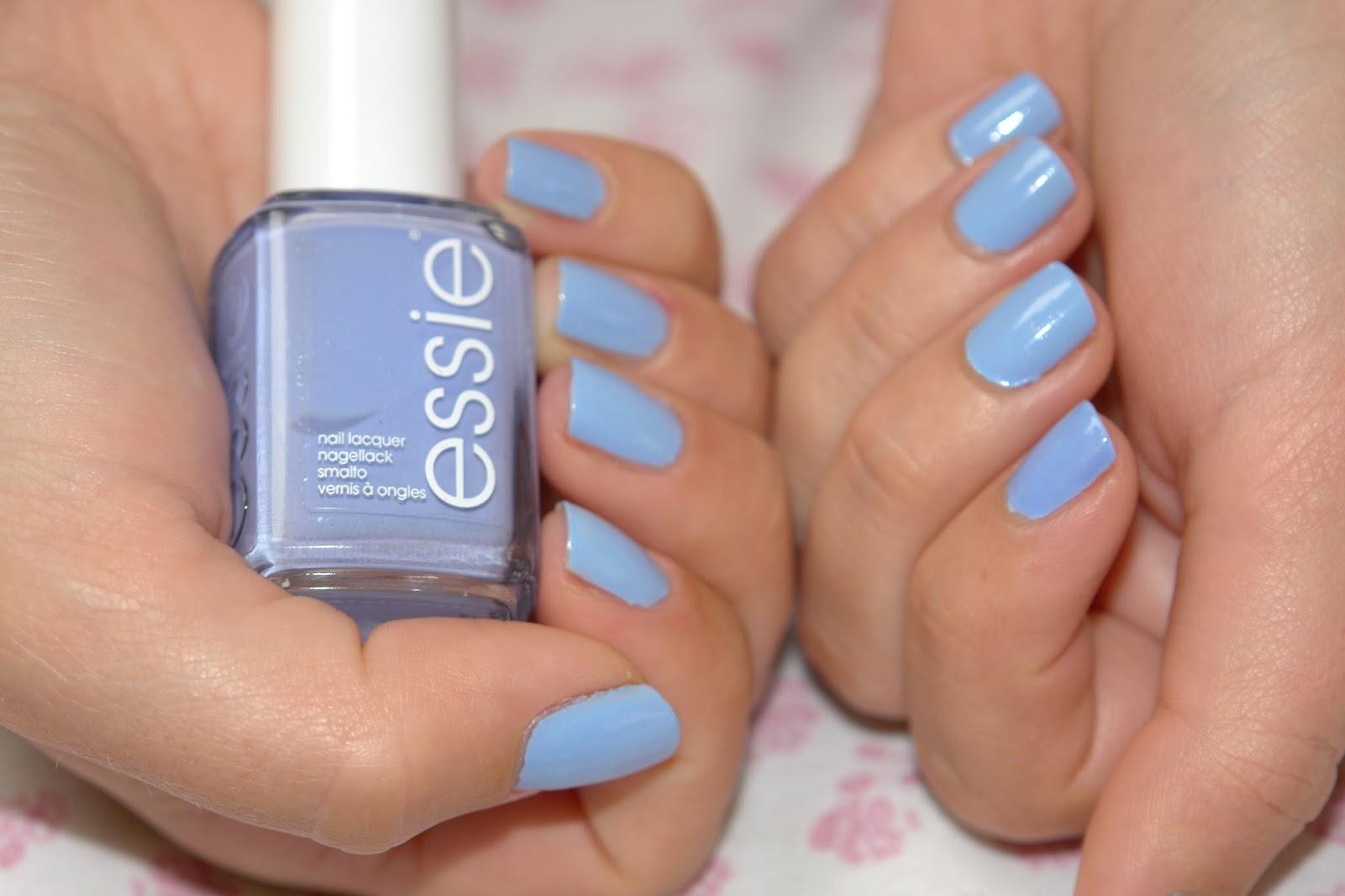 NAILS: Essie Bikini So Teeny, Essie, nail polish, nails, NOTD, blue, swatch, swatches, bbloggers, beauty UK blog