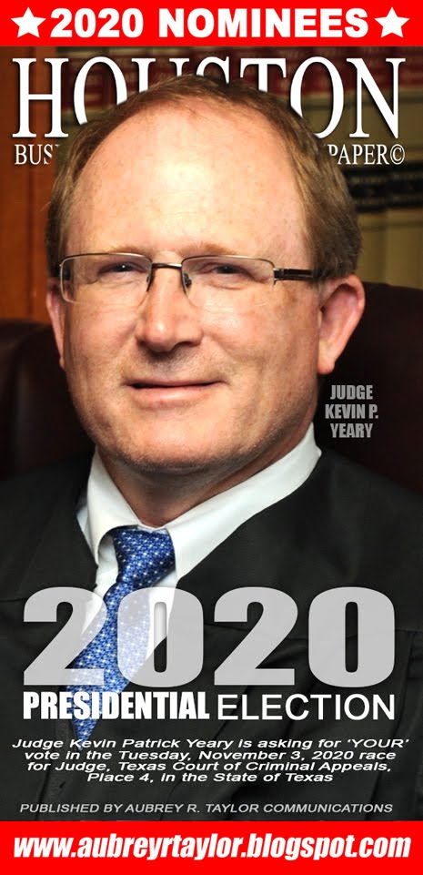 Judge Kevin Patrick Yeary for Texas Court of Criminal Appeals on Tuesday, November 3, 2020