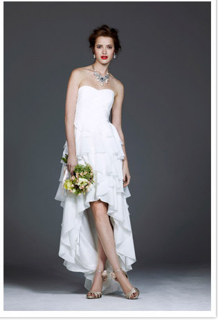 high low reception wedding dress