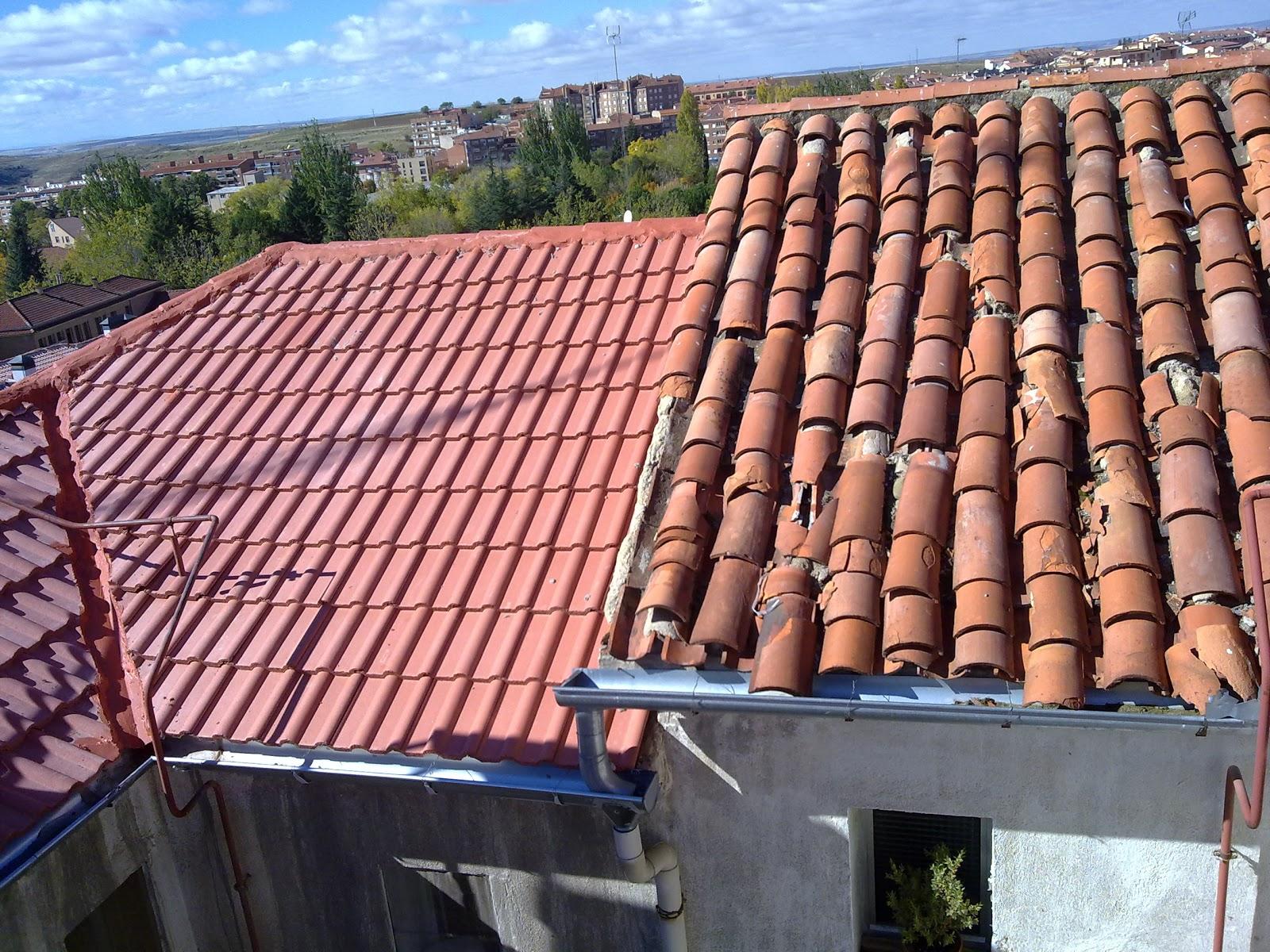 Colocaci n de teja mixta en sustitucion de tejas rotas de for Tejados prefabricados
