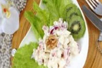 Receita de Salada de alface com frutas