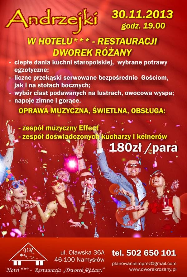 Andrzejki 2013 - Dworek Różany Namysłów