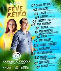 AGENDA MÊS DE FEVEREIRO DE CHARLES DO ARROCHA E FORRÓ DE PRIMEIRA!!!