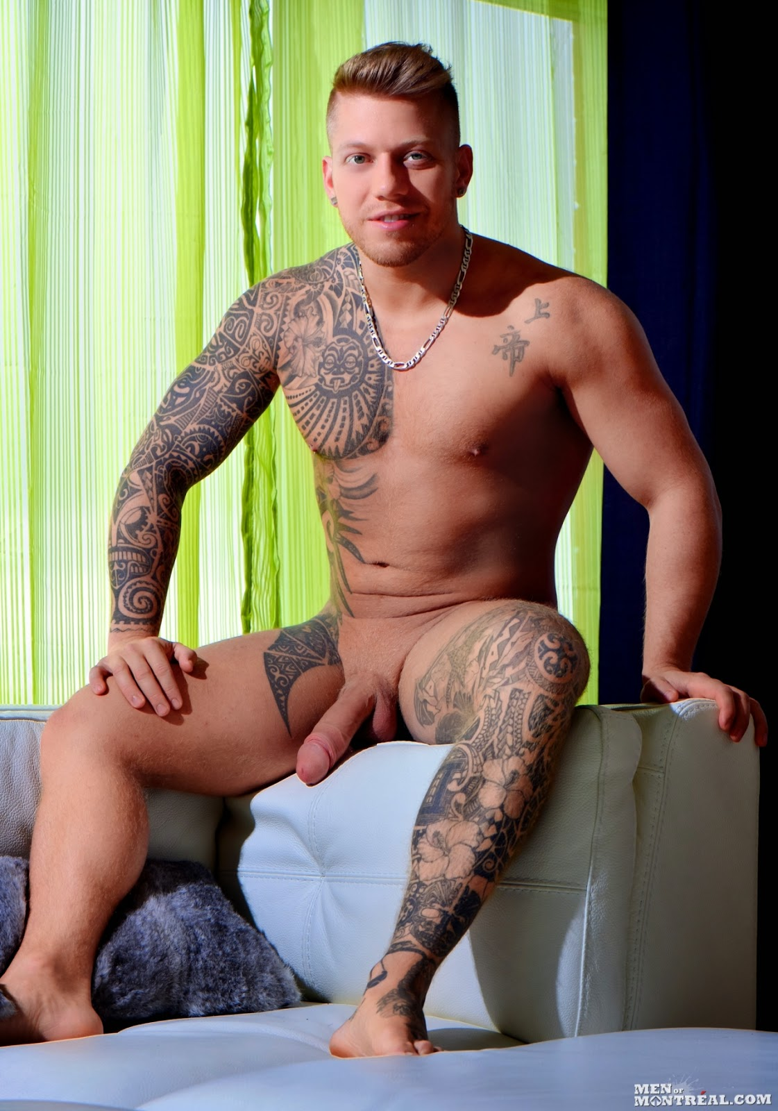 naked tattoo men with huge cock