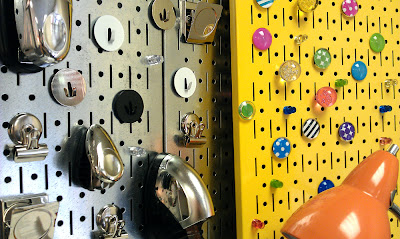 magnetic pegboard