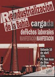 Manifestación por una reindustrialización de nuestra bahía que ponga en el centro los derechos de s