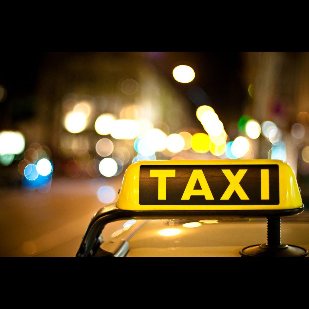 Un taxista en el piquete