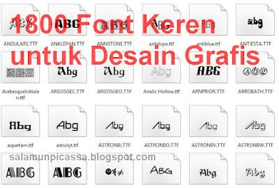 1800 Font Keren untuk Desain Grafis