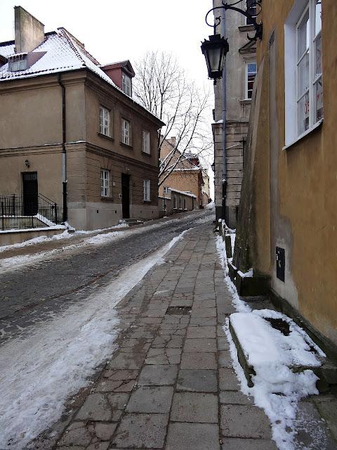 Ulica Brzozowa na Starym Mieście w Warszawie