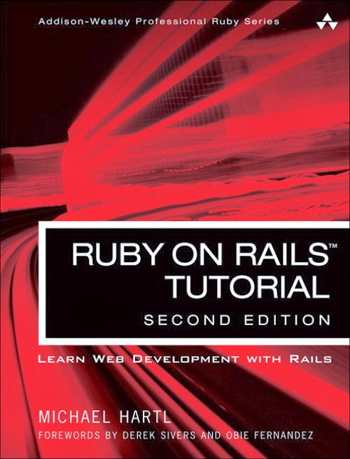 Ruby on Rails Tutorial front cover
