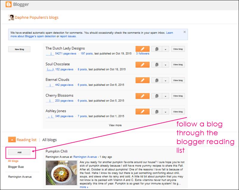 blogger blog list