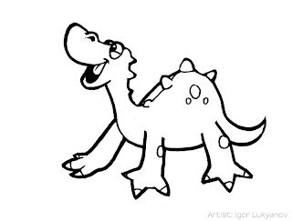 cute baby dinosaur, cartoon dinosaur