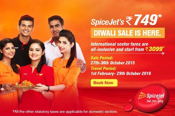 Spicejet Diwali Sale...Spicejet Airlines - www.aksharonline.com