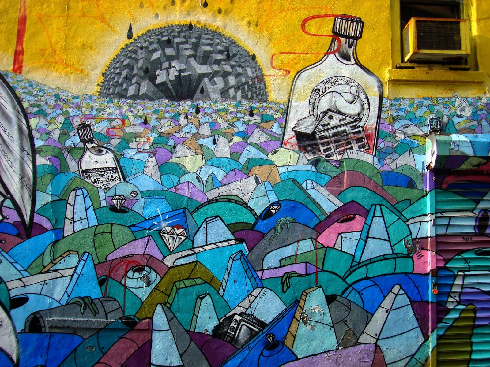 graff street art mural