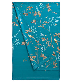 Robin de Zucchi Collection. Foular de Decoracion. Azul