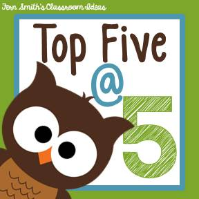 Fern Smith's Classroom Ideas Weekly Top Five at Five Blog Posts Being Read.