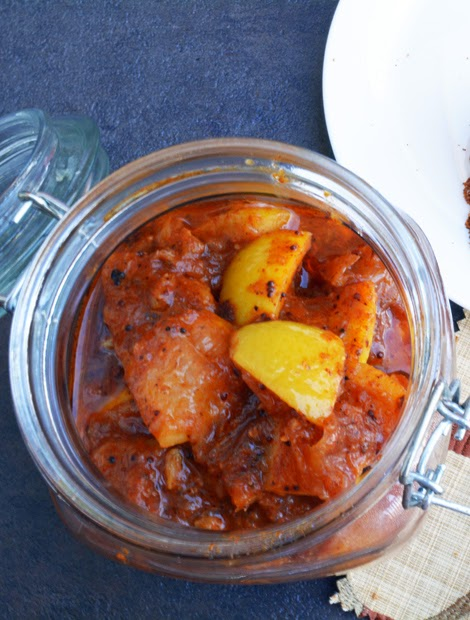 South Indian Style Lemon Pickle