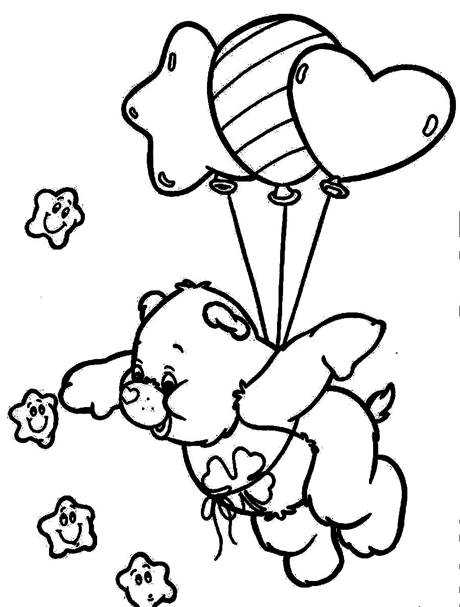 Colouring pages for november - Care Bears Coloring Pages