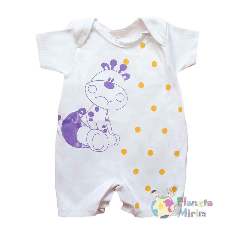 Macacão com bolinhas e estampa urso para os bebês que adoram roupas leves