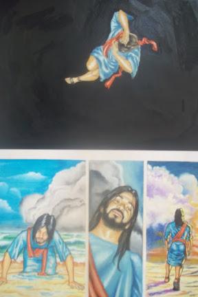 Cena da HQ bíblica JONAS (nunca publicada).