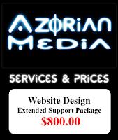 """AzM: Website Design- """"Extended Support"""" $800.00"""