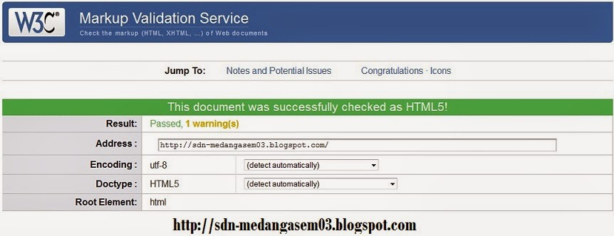 AKHIRNYA BLOG BISA VALID HTML5
