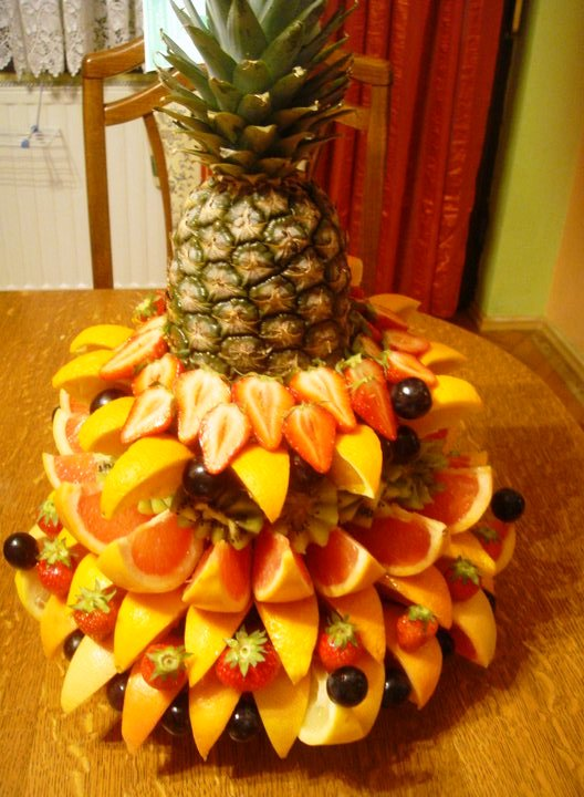 Ananas korpa fruit decoration for Ananas dekoration