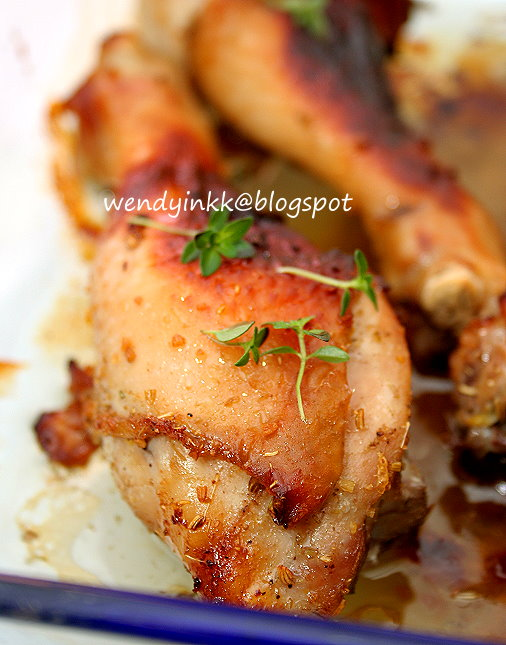 ... or more: Fennel Thyme Honey Roasted Chicken - Confinement Month # 5