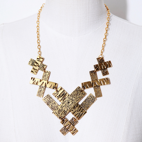 Michelle Cross Bib Necklace