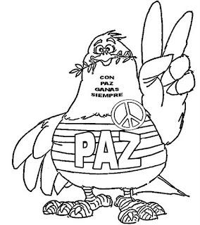 Dibujos Dia de la Paz para Pintar, parte 2