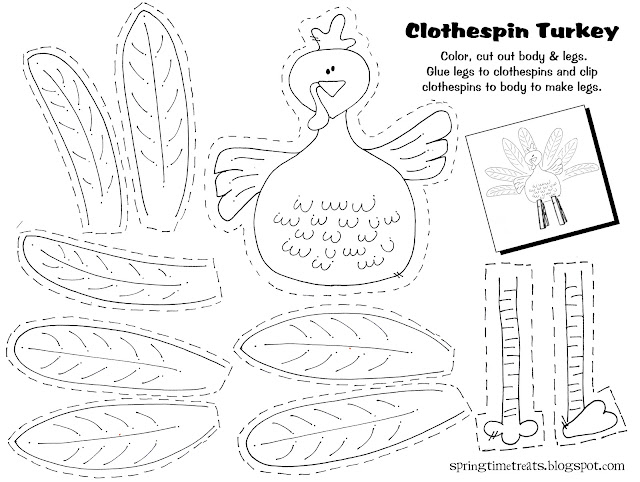 Playful image with regard to turkey cutouts free printable