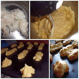 paso a paso de la pasta choux