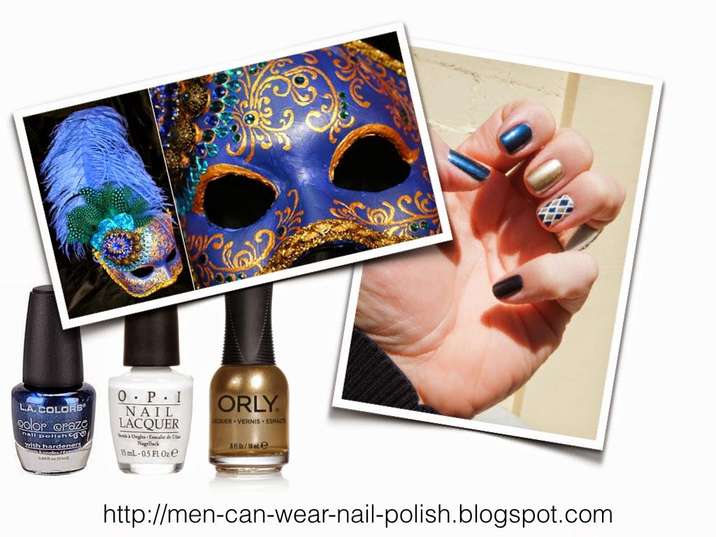 Men can wear nail polish: Nail Designs for men? You Bet!