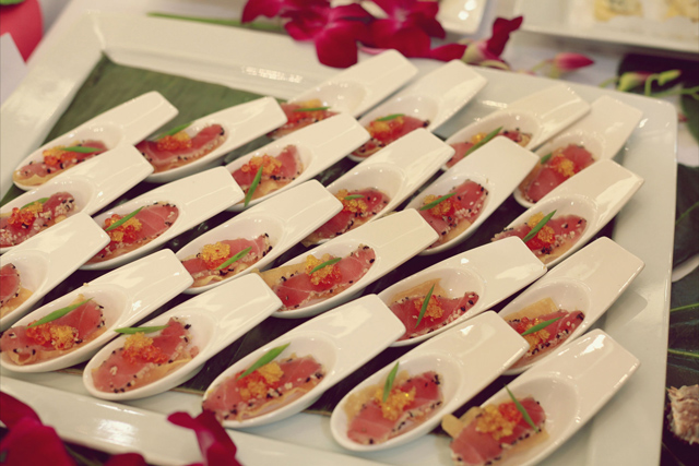 seasons catering at swimco pack for paradise event