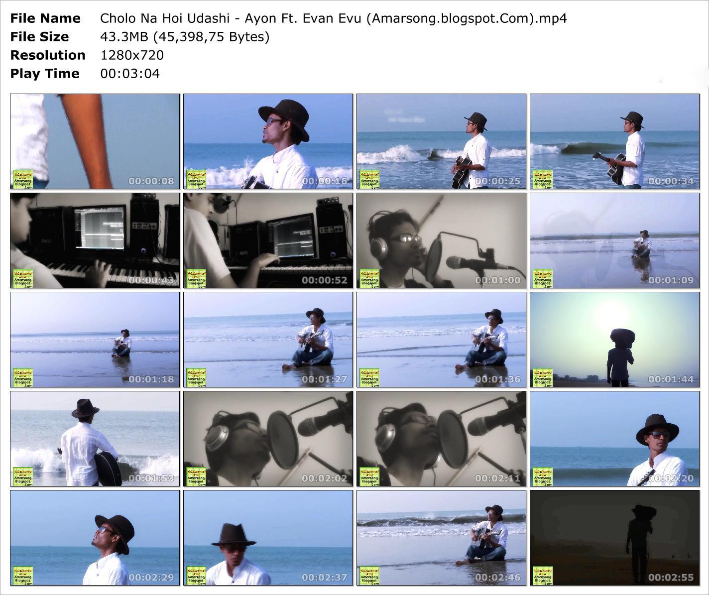 Cholo Na Hoi Udashi - Ayon Ft. Evan Evu Video Download Mp4 Format