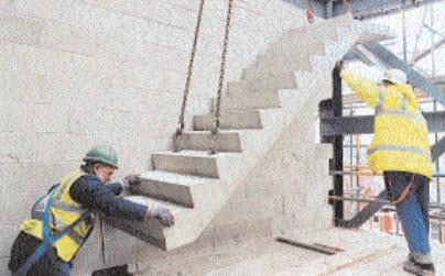 Viviendas prefabricadas de hormig n t cnicas tiempo en for Construccion de escaleras de cemento
