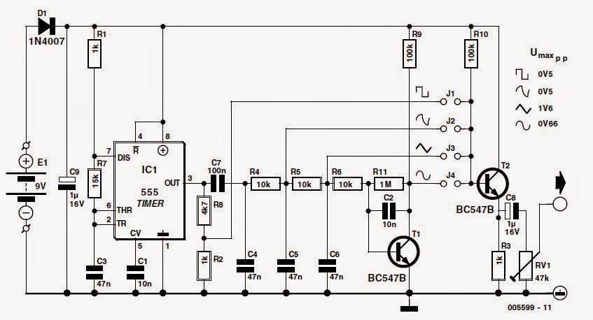Синусоидальный генератор на микросхеме схема