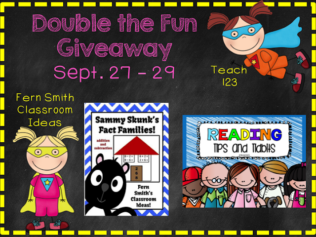 Fern Smith and Teach123's September's Double the Fun Giveaway!