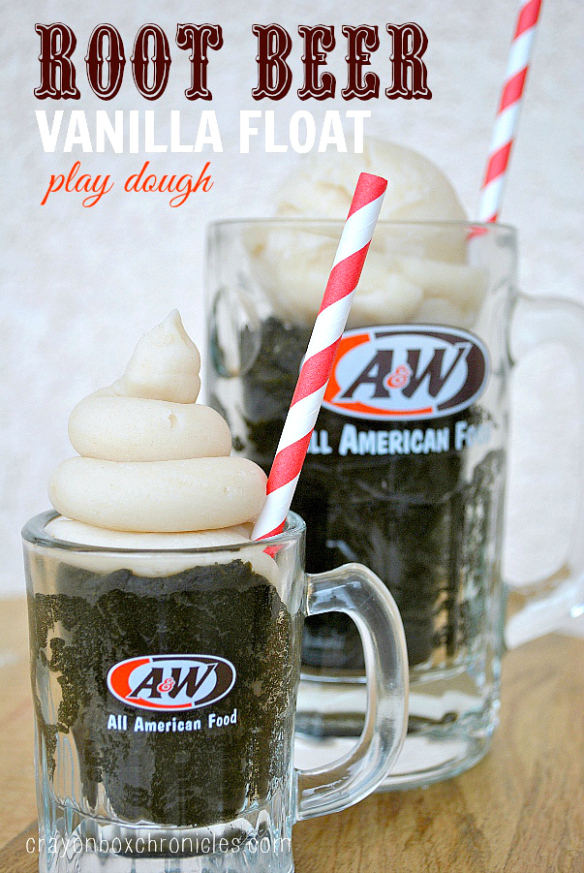 http://crayonboxchronicles.com/2014/02/10/root-beer-vanilla-float-play-dough/