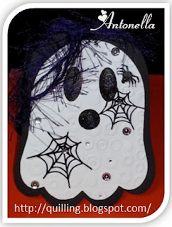 Antonella's Ghost Shaped Card - quilling.blogspot.com