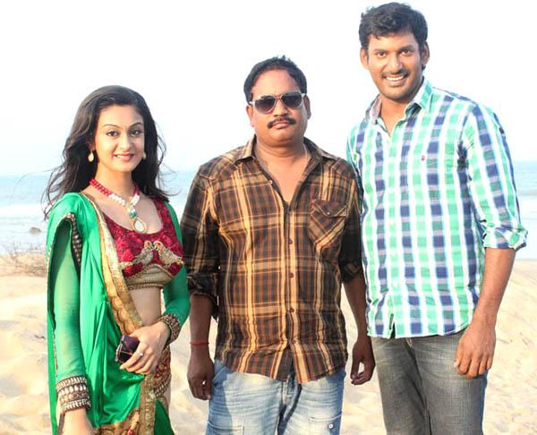 vishal aishwarya arjun pattathu yaanai movie working stills