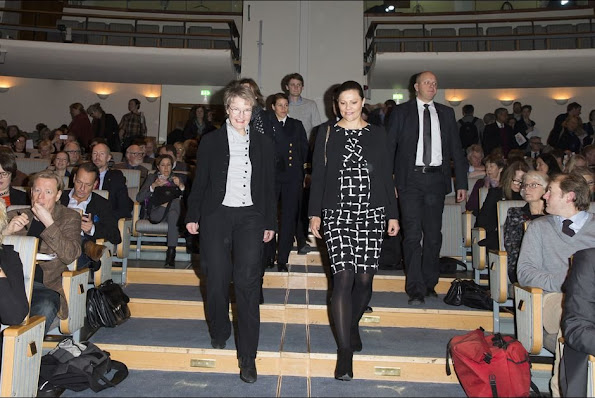 "Crown Princess Victoria of Sweden attended a conference on ""Agenda 2030 - The efforts necessary for Sweden to reach its global goals and sustainable development"" at Stockholm City Conference Centre (Folkets Hus)"